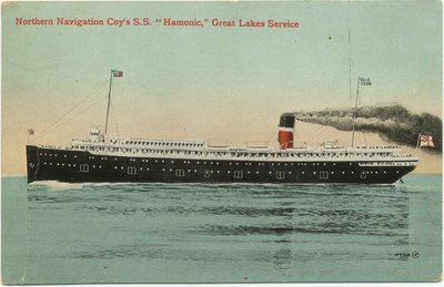 "Northern Navigation Coy's S. S. ""Hamonic,"" Great Lakes Service"