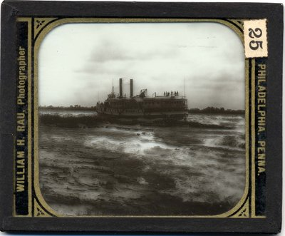 Steamer Bohemian shooting Lachine Rapids