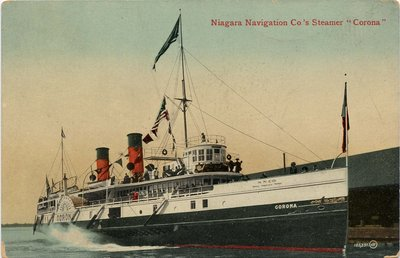 "Niagara Navigation Co.'s Steamer ""Corona"""