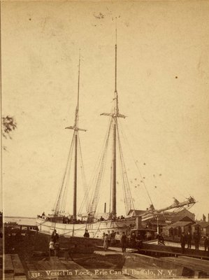 Vessel in Lock Erie Canal, Buffalo, N. Y.