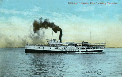 "Steamer ""Garden City"" leaving Toronto"