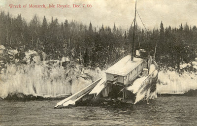 Wreck of Monarch, Isle Royale, Dec. 7. 06