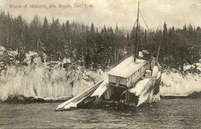 Wreck of Monarch, Isle Royale, Dec. 7. 06