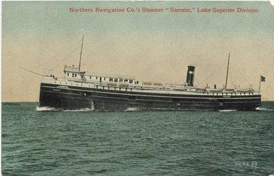 "Northern Navigation Co.'s Steamer ""Saronic,"" Lake Superior Division"