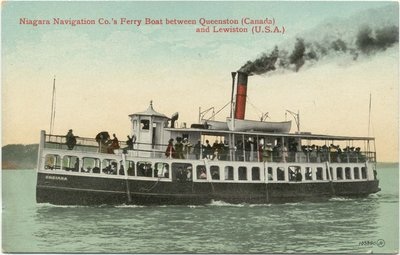 Niagara Navigation Co.'s Ferry Boat between Queenston (Canada) and Lewiston (U. S. A.)