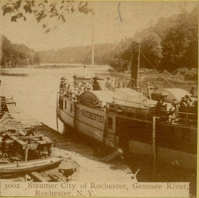 Steamer City of Rochester, Genesee River, Rochester, N. Y.