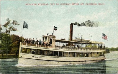 Steamer Mineral City on Clinton River, Mt. Clemens, Mich.