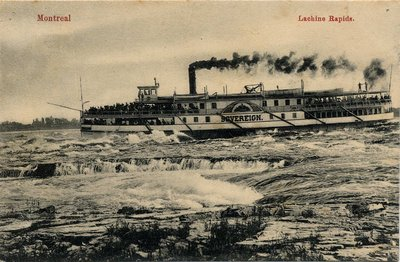 The Sovereign in the Lachine Rapids at a more civilized, and likely, hour.
