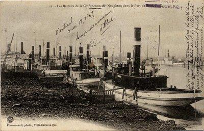 Les Bateaux de la Cie Sincennes Mcnoughton dans le Port de Sorel, P. Q.
