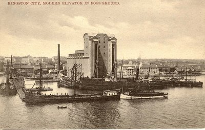 Kingston City, Modern Elevator in foreground