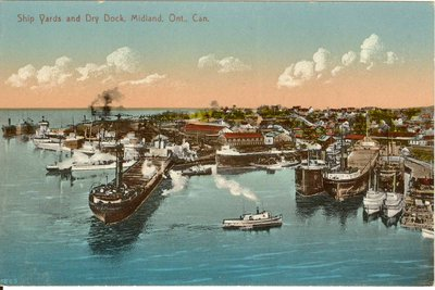Ship Yards and Dry Dock, Midland, Ont., Can.