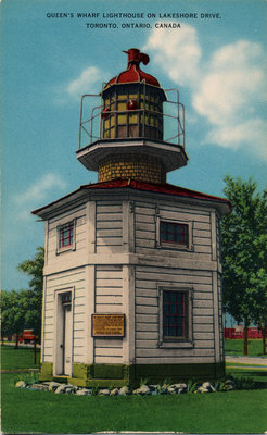 Queen's Wharf Lighthouse on Lakeshore Drive, Toronto