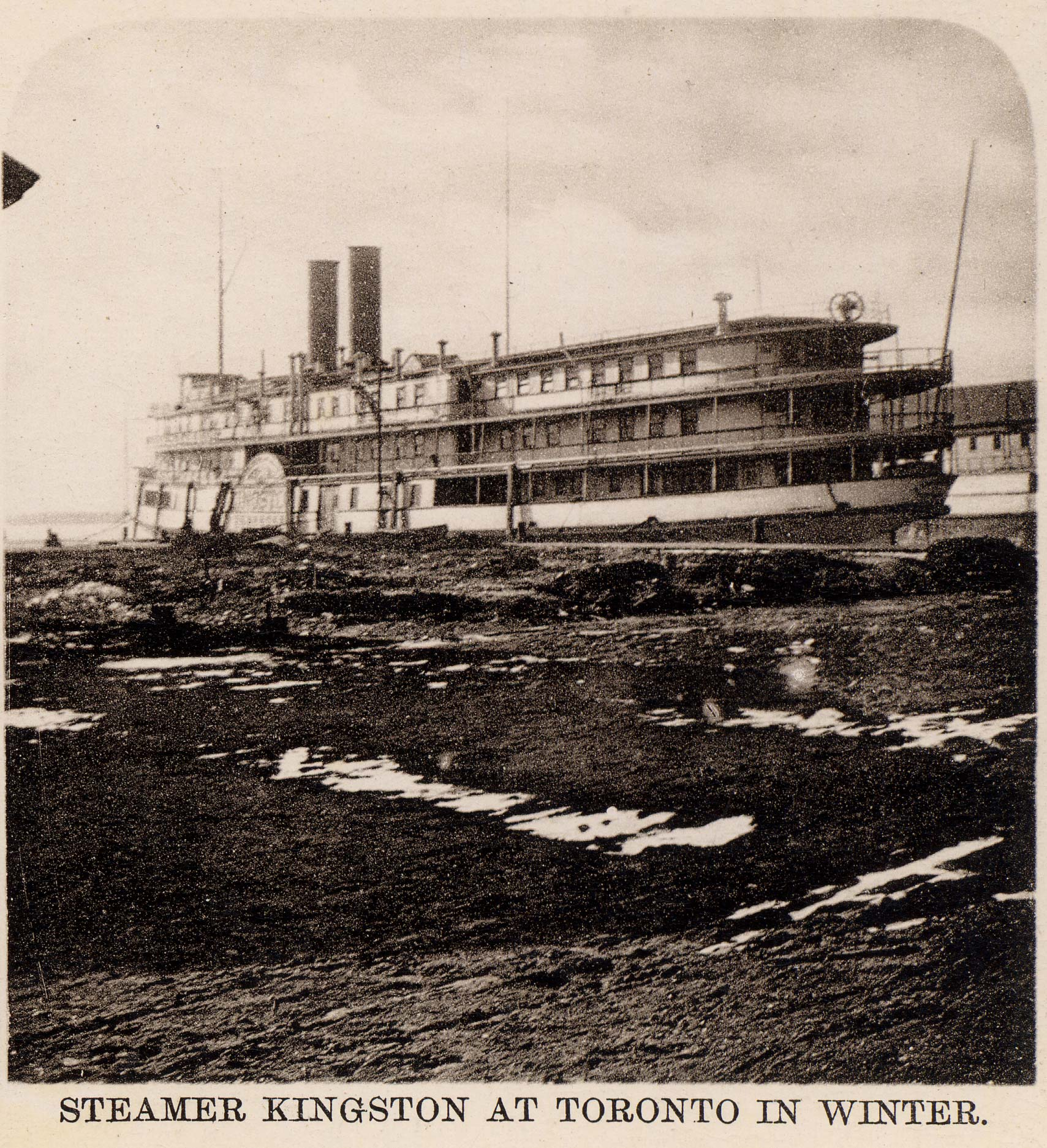 Steamer KINGSTON at Toronto in winter