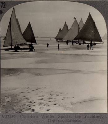 Canadian Winter Sports, Ice Yachting, Ontario, Canada