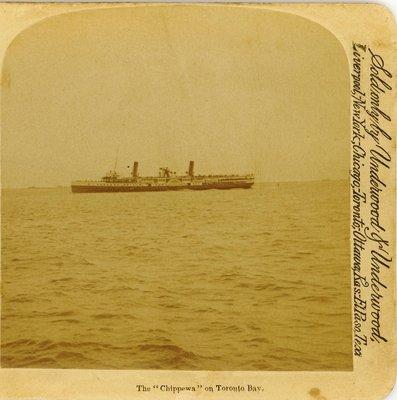 """The """"Chippewa"""" on Toronto Bay"""