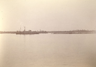 JOHN A MACDONALD towing timber raft on the Saint Lawrence River