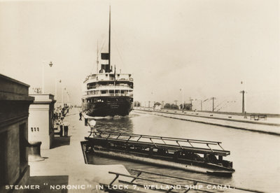 """Steamer """"Noronic"""" in Lock 7, Welland Ship Canal"""