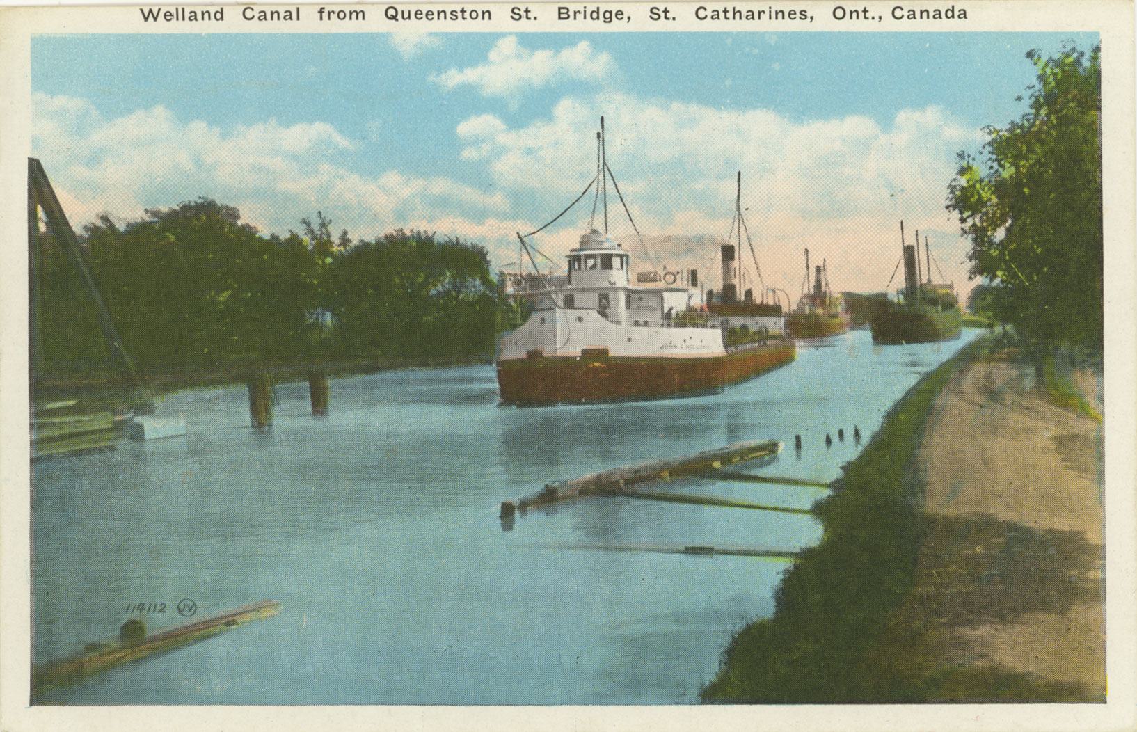 Welland Canal from Queenston St. Bridge, St. Catharines, Ont., Canada