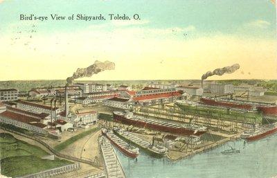Bird's-eye View of Shipyards, Toledo, O.