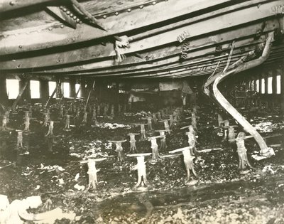 Charred Wreckage of Noronic Dining Room