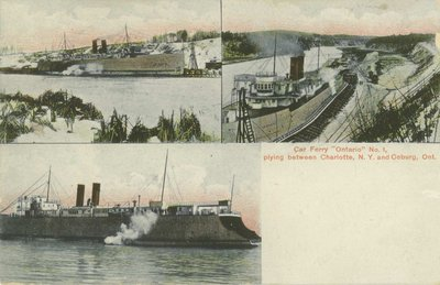 "Car Ferry ""Ontario No. 1"" plying between Charlotte, N.Y. and Coburg, Ont."