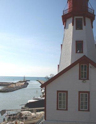 The Lighthouse and harbour, Kincardine, ON