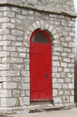 Door to the Gibraltar Point lighthouse