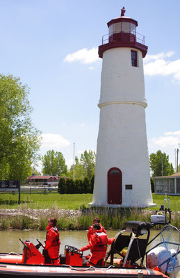 Rear range light at the mouth of the Thames River