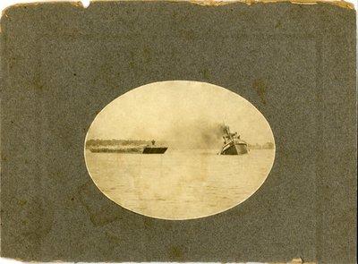 Tug Augusta aground in Niagara River at Grand Island
