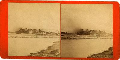 View of Niagara River from factory at Buffalo