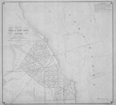 Map of the Village of Port Hope or Stafford, Huron Co. Mich.
