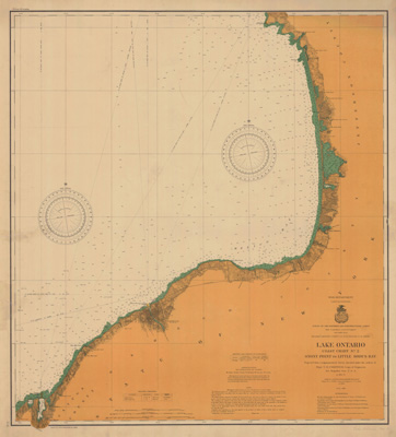 Lake Ontario Coast Chart No. 2. Stony Point to Little Sodus Bay. 1902