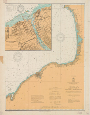 Lake Ontario Coast Chart No. 2. Stony Point to Little Sodus Bay. 1908
