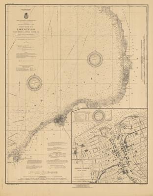 Lake Ontario Coast Chart No. 2. Stony Point to Little Sodus Bay. 1922