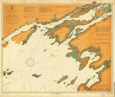 Lake Ontario Coast Chart No. 1. Round Island to Stony Point and South Bay Point. 1907
