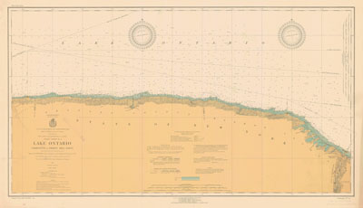 Lake Ontario Coast Chart No. 4. Charlotte to Thirty Mile Point. 1924