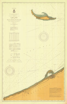 Lake Erie Coast Chart No. 3. Erie to Conneaut, and Long Point, 1902