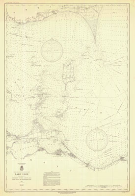 Lake Erie Coast Chart No. 6. Vermilion to Port Clinton, Ohio, Point Pelee to Colchester, Ont. 1934