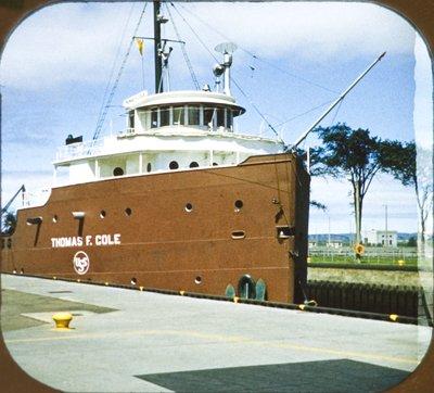 THOMAS F. COLE in the Soo locks