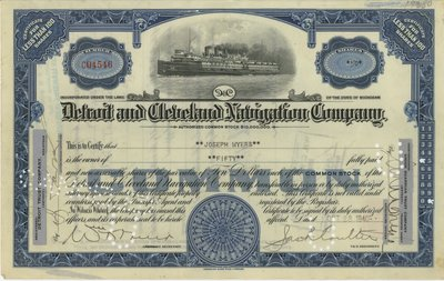 Detroit and Cleveland Navigation Company Common Stock