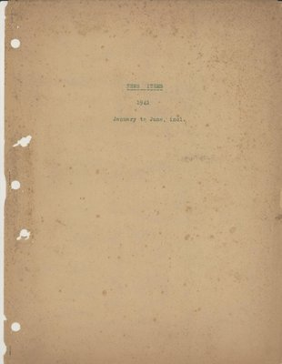 Brookes Scrapbooks, Jan. - June 1941