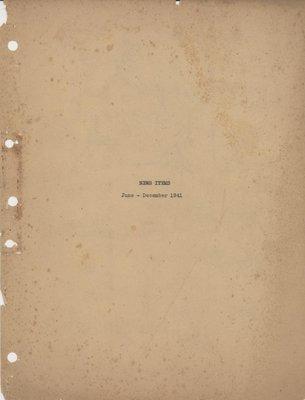 Brookes Scrapbooks, July to Dec. 1941