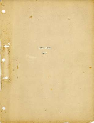 Brookes Scrapbooks, 1947
