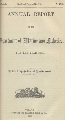 Report of Chairman of Board of Steamboat Inspection For the Year Ended 31st December 1868