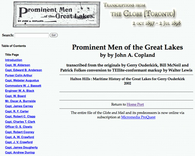 Prominent Men of the Great Lakes