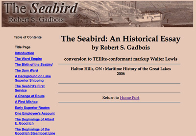 The Seabird: An Historical Essay