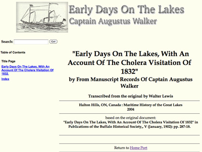 Early Days On The Lakes, With An Account Of The Cholera Visitation Of 1832