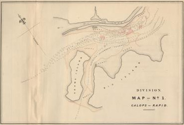 Survey of a portion of the Galoppe Rapids