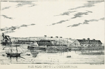 Rail-road Depot at Ogdensburgh