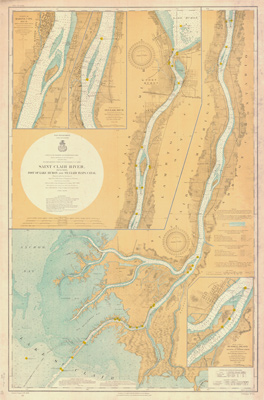 Saint Clair River. 1908